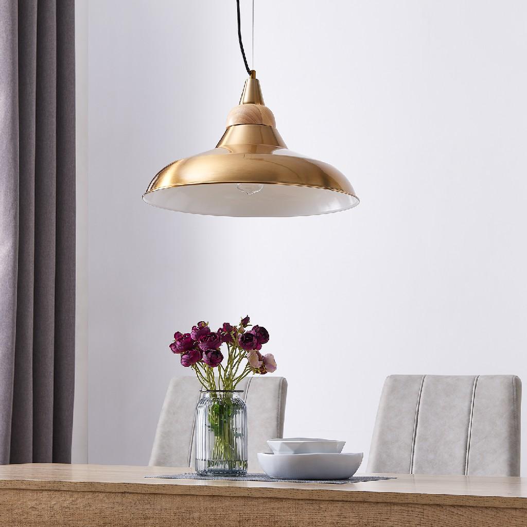 Beldon Metal & Wood Pendant Light - Southern Enterprises LT8219