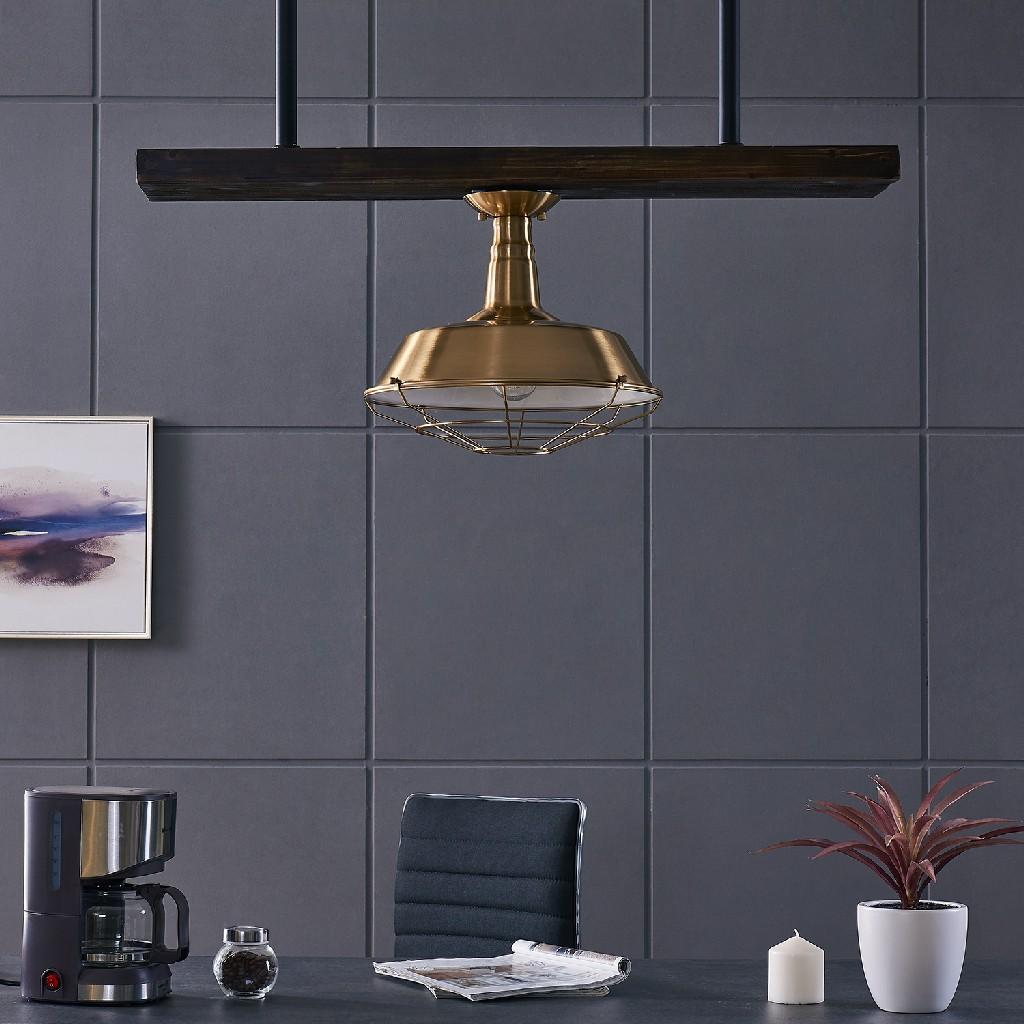 Southern | Antique | Pendant | Brass | Flush | Mount | Lamp