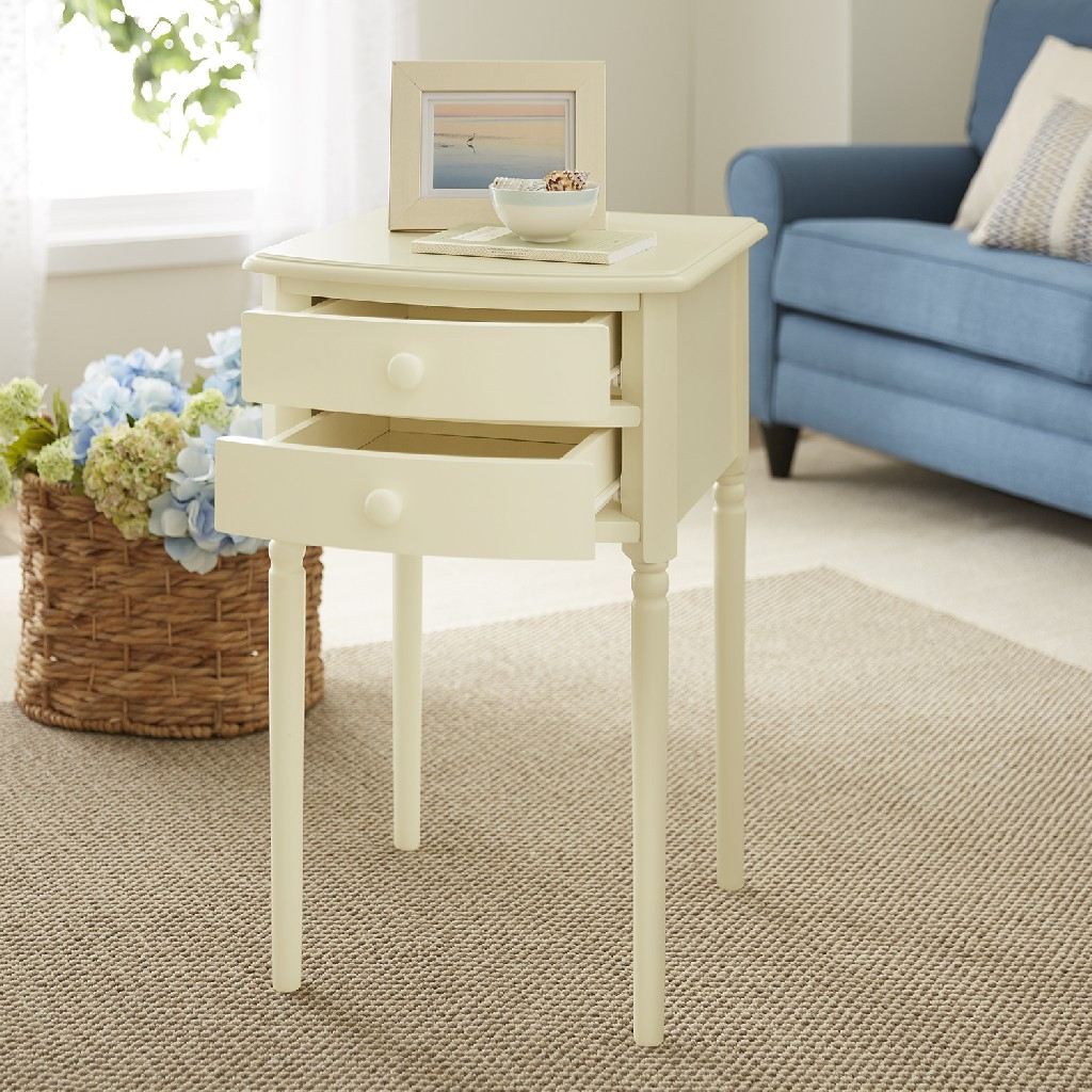Avondale Tall Farmhouse Accent Table with Storage - Southern Enterprises OC2501