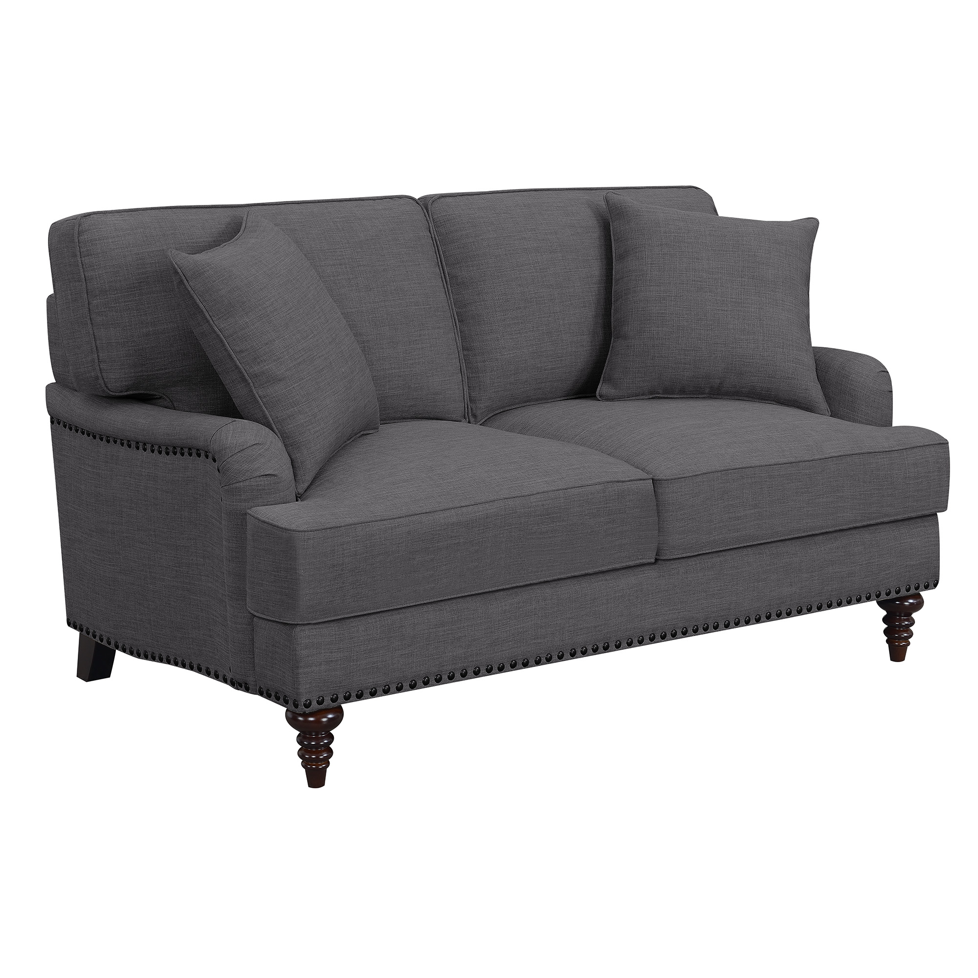 Picket House Loveseat Charcoal