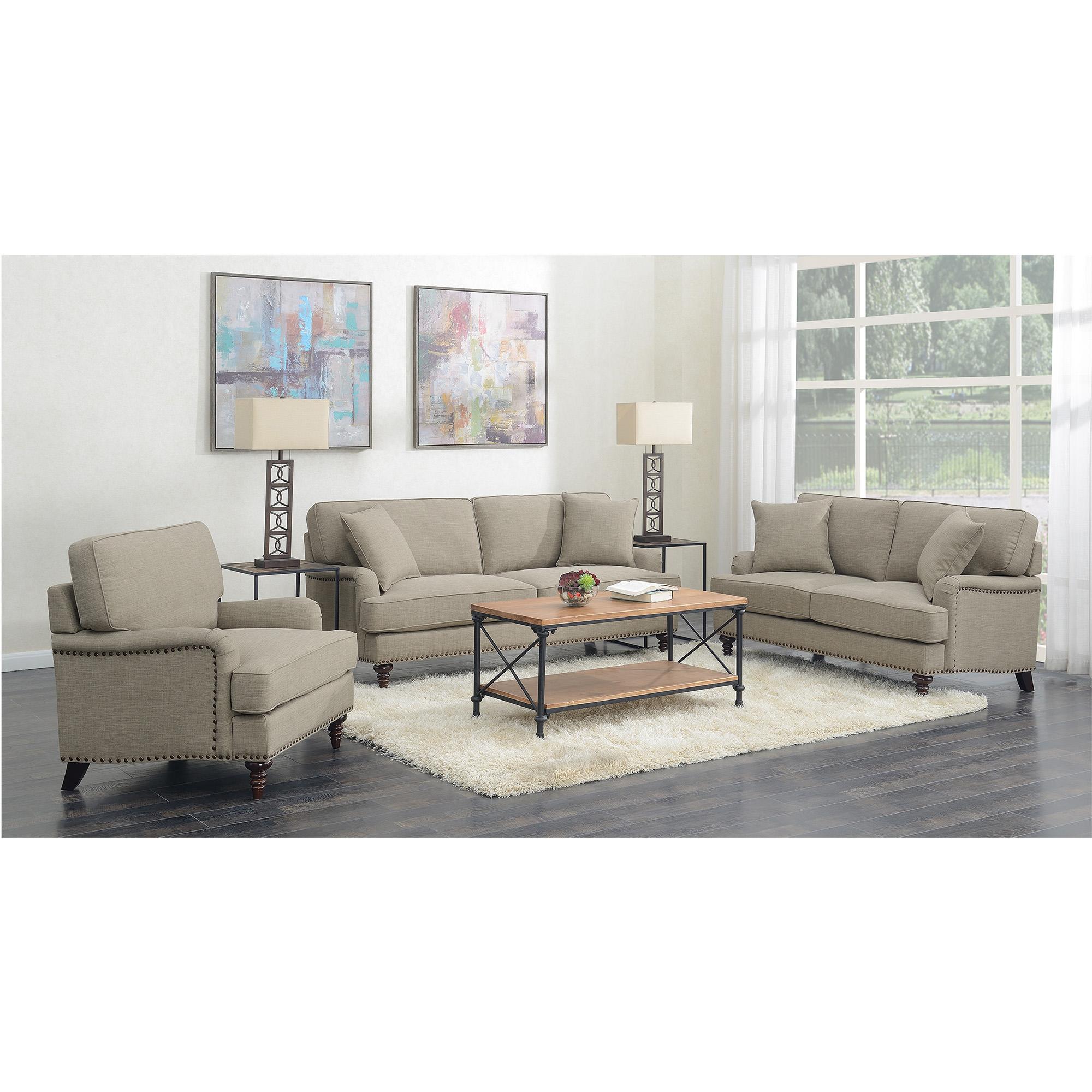 Picket House Living Room Set Sofa Loveseat Chair Smoke