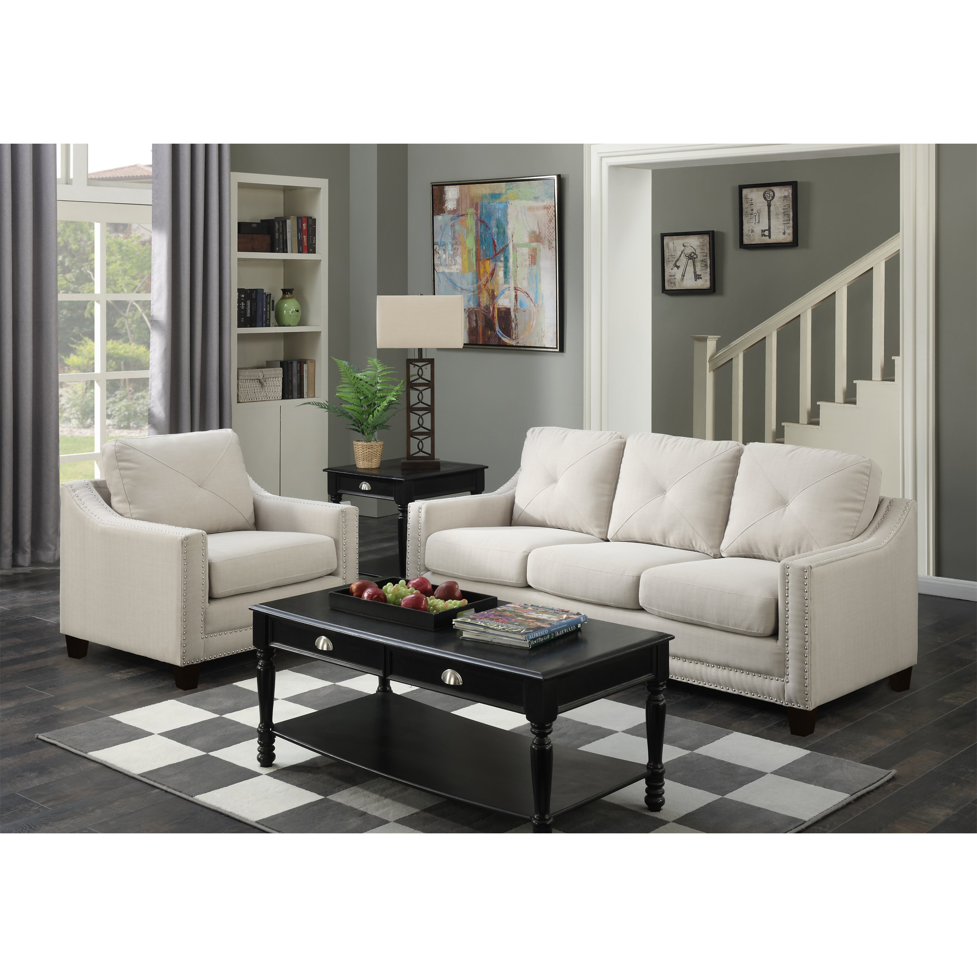 Picket House Mauldin Sofa Chair Taupe