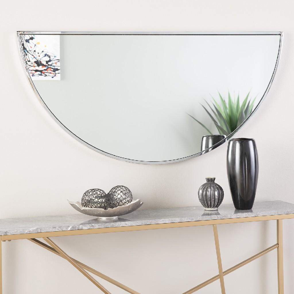 """Wyndowlyn Decorative Arched Mirror 48""""- Chrome - Holly & Martin WS5513"""