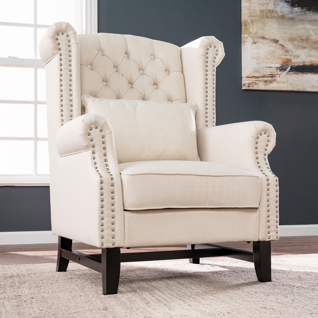 Ashington Upholstered Wingback Chair - Southern Enterprises BC4311
