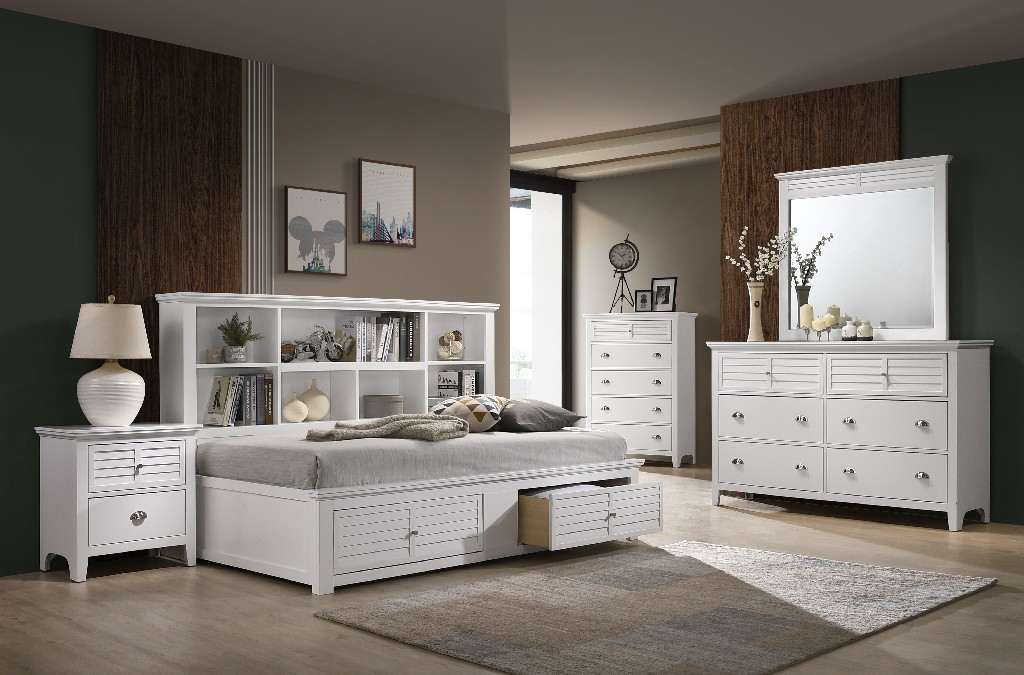 Myco Storage Bed White
