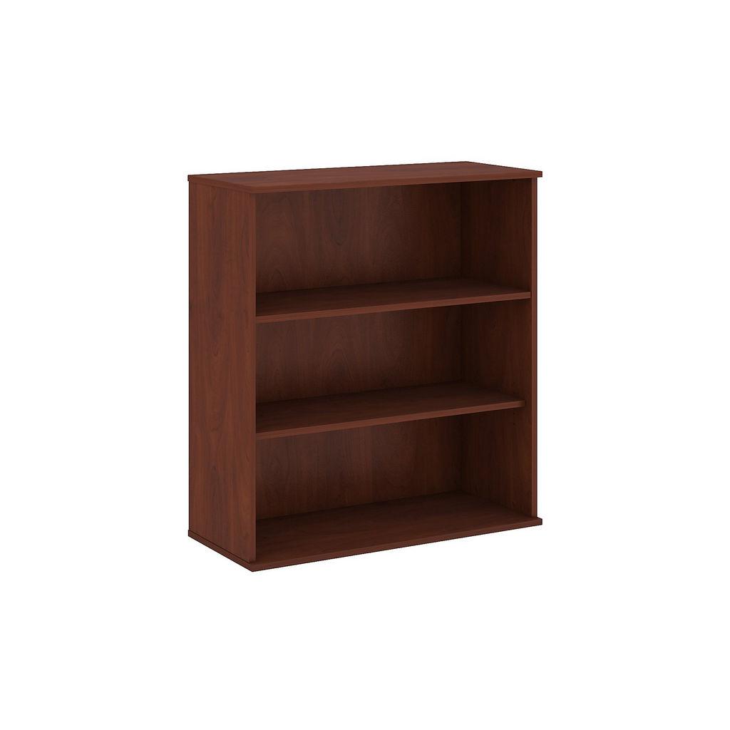 Bush Business Furniture 48H 3 Shelf Bookcase in Hansen Cherry - BK4836HC