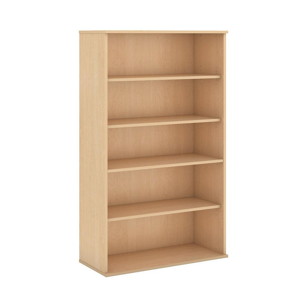 Bush Business Furniture 66H 5 Shelf Bookcase in Natural Maple - BK6636AC