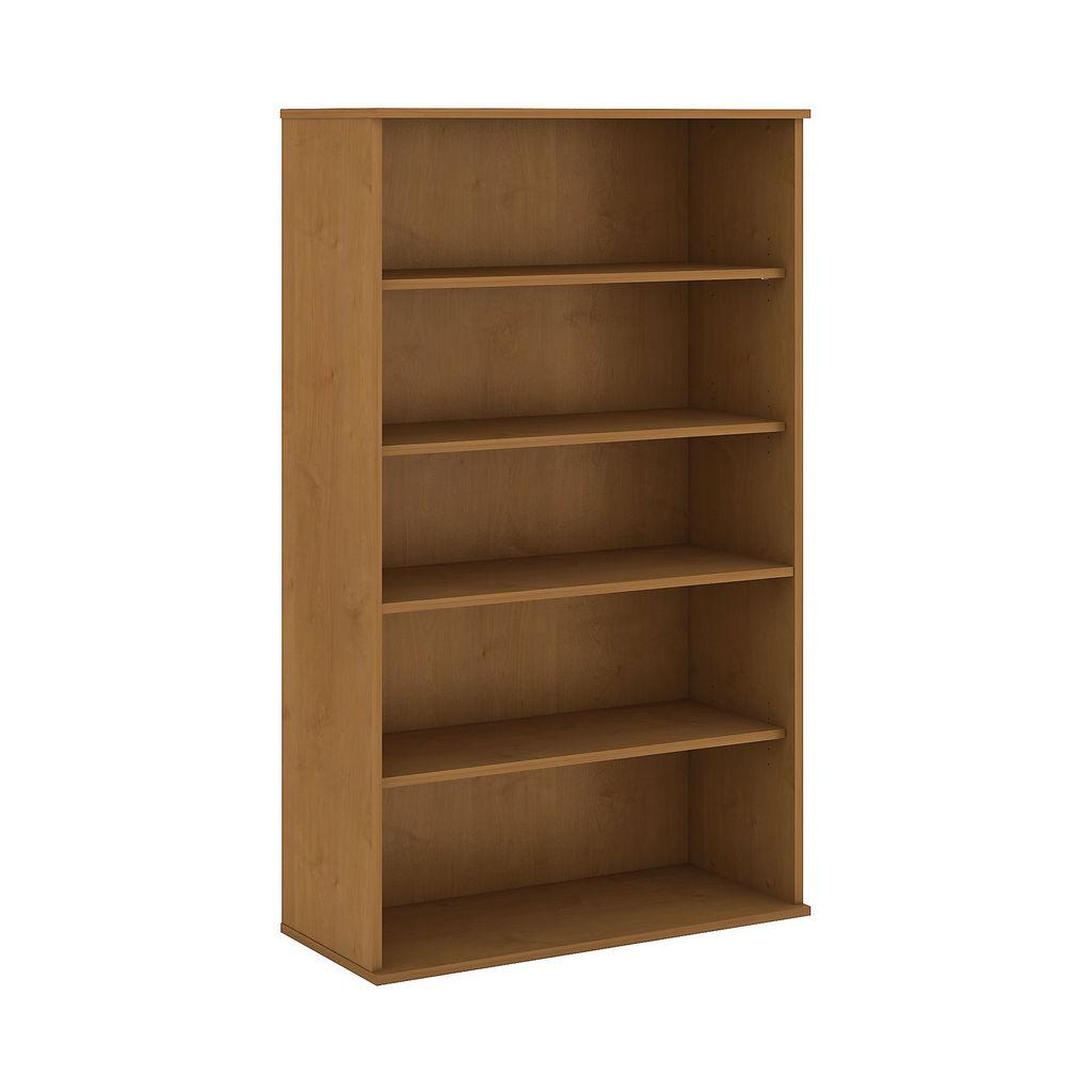 Bush Business Furniture 66H 5 Shelf Bookcase in Natural Cherry - BK6636NC
