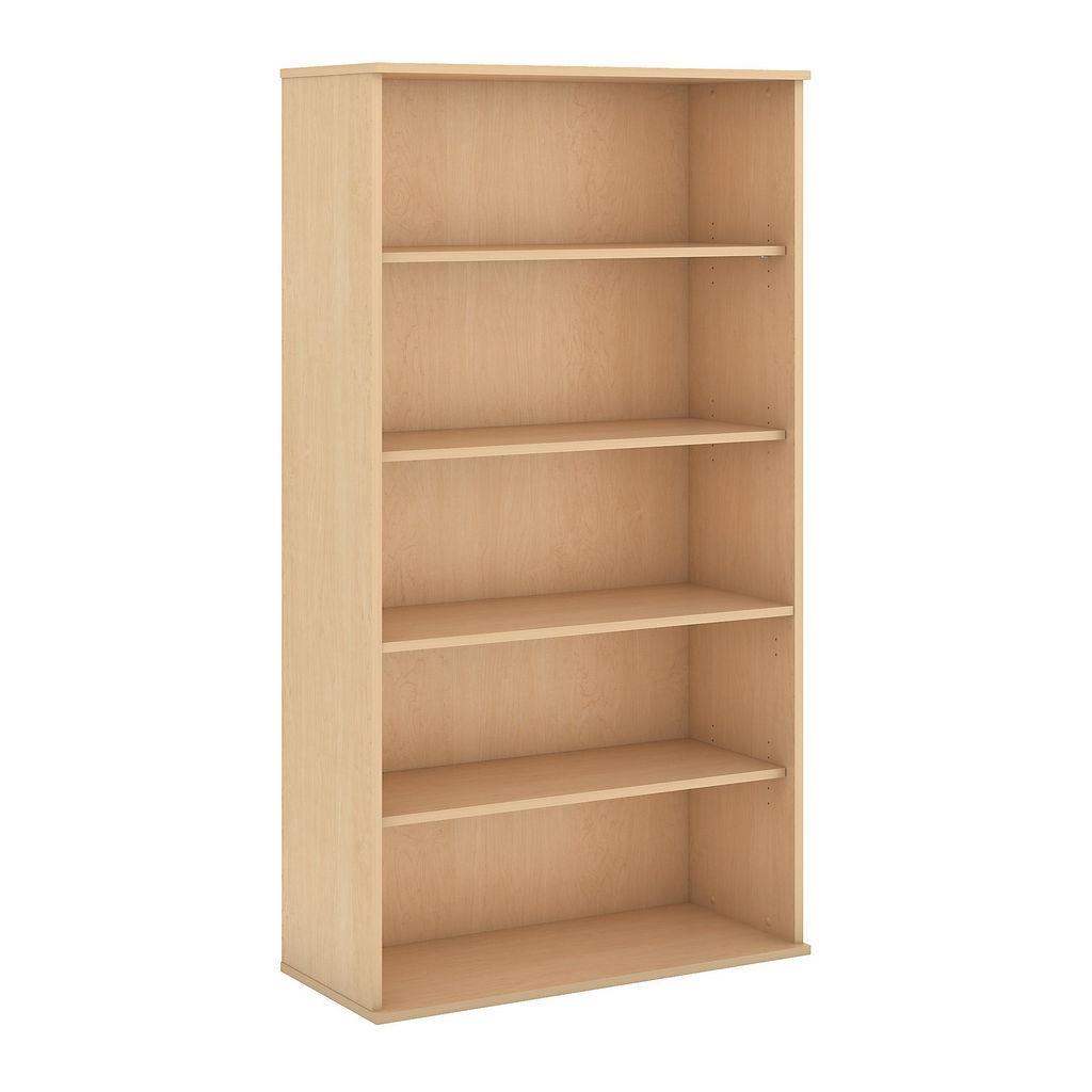 Bush Business Furniture 72H 5 Shelf Bookcase in Natural Maple - BK7236AC
