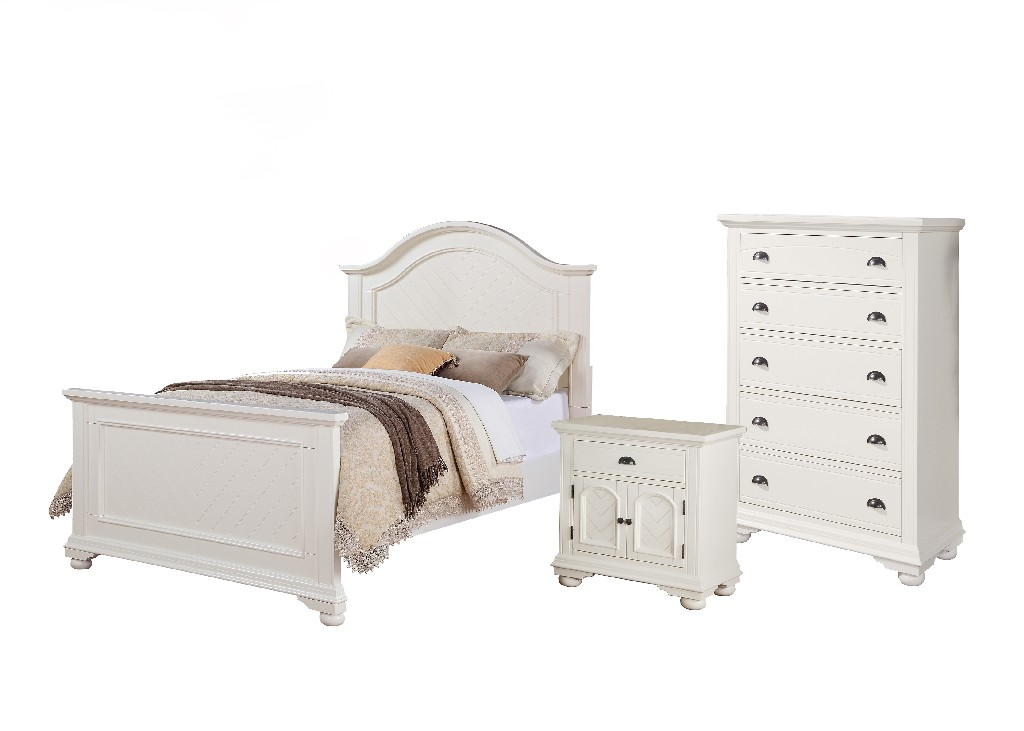 Picket House White Full Panel Bedroom Set