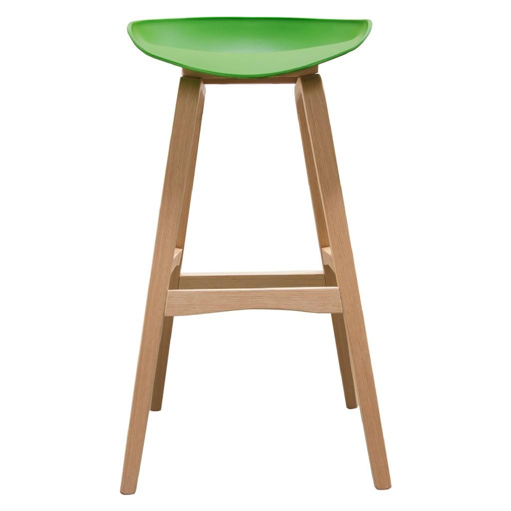 Brentwood Bar Height Stool w/ Green PP Seat & Molded Bamboo Frame - Diamond Sofa BRENTWOODSTGN