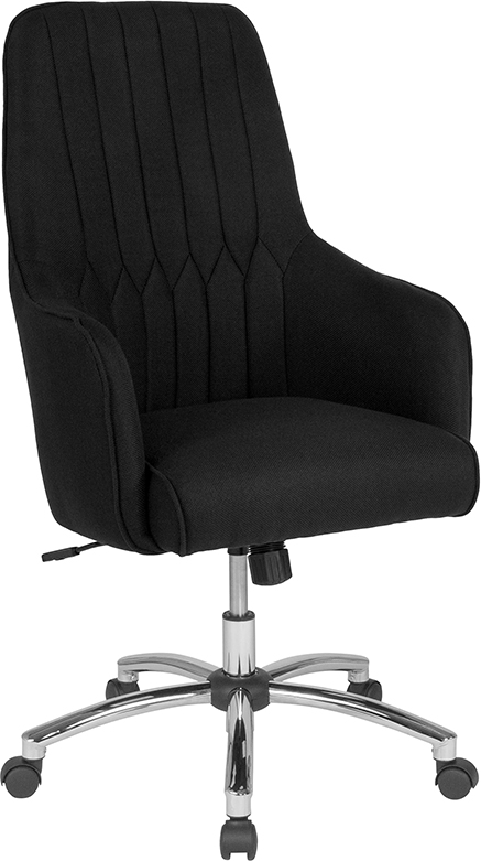 Upholster | Furniture | Office | Fabric | Flash | Chair | Black | Home | Back | High