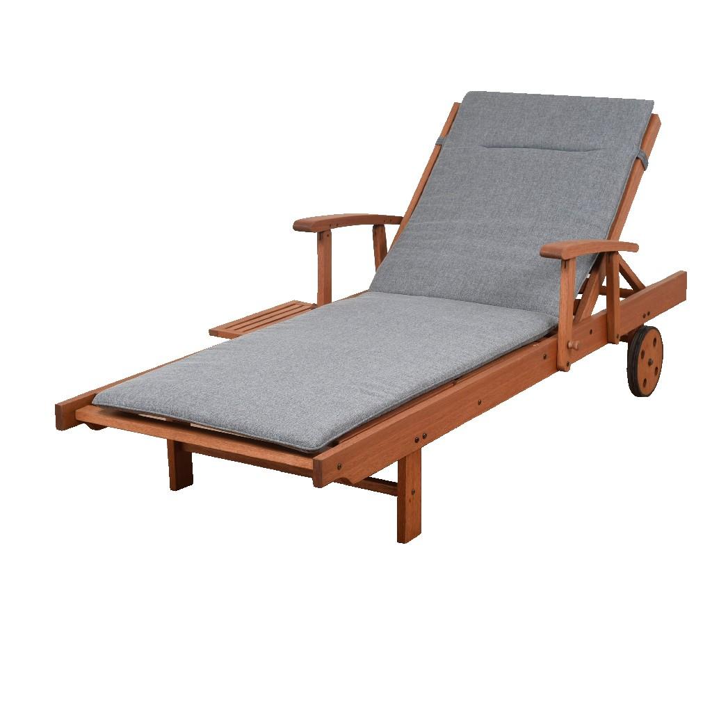 Amazonia Patio Lounger w/ Gray Cushion - International Home BT214_GR