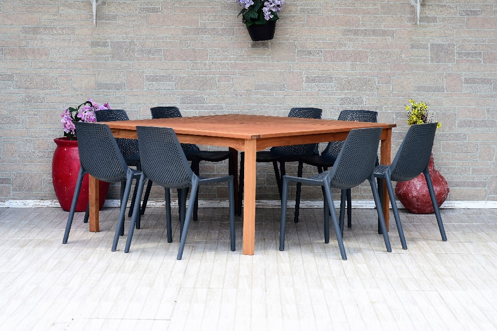 International Home Square Dining Set Chairs