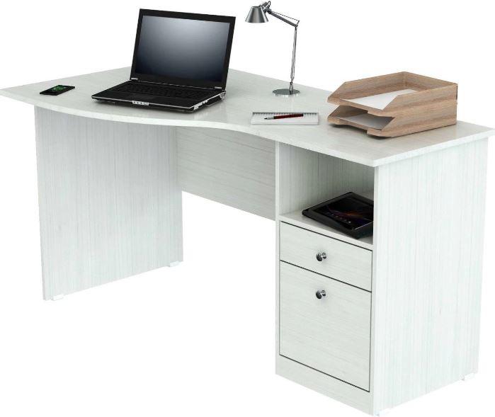 Inval America ES-3403 White Curved Top Desk