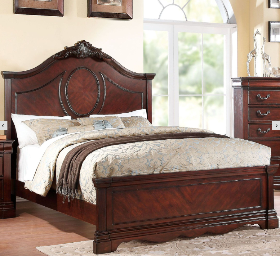 Acme Estrella California King Bed Dark Cherry