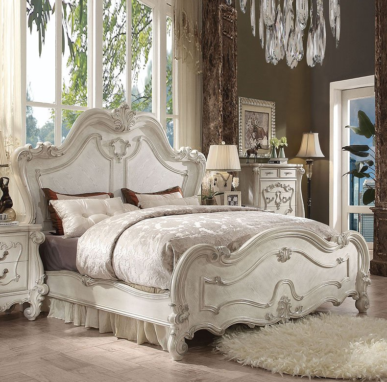 Acme California King Bed Bone White