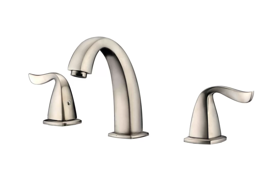 "3-Hole Widespread Lavatory Faucet w/ Lever Handles For 8"" Centers in Brushed Nickel (Standard Pull-Up Drain w/ Lift Rod D90 0010Bn Included) - Dawn® AB04 1272BN"