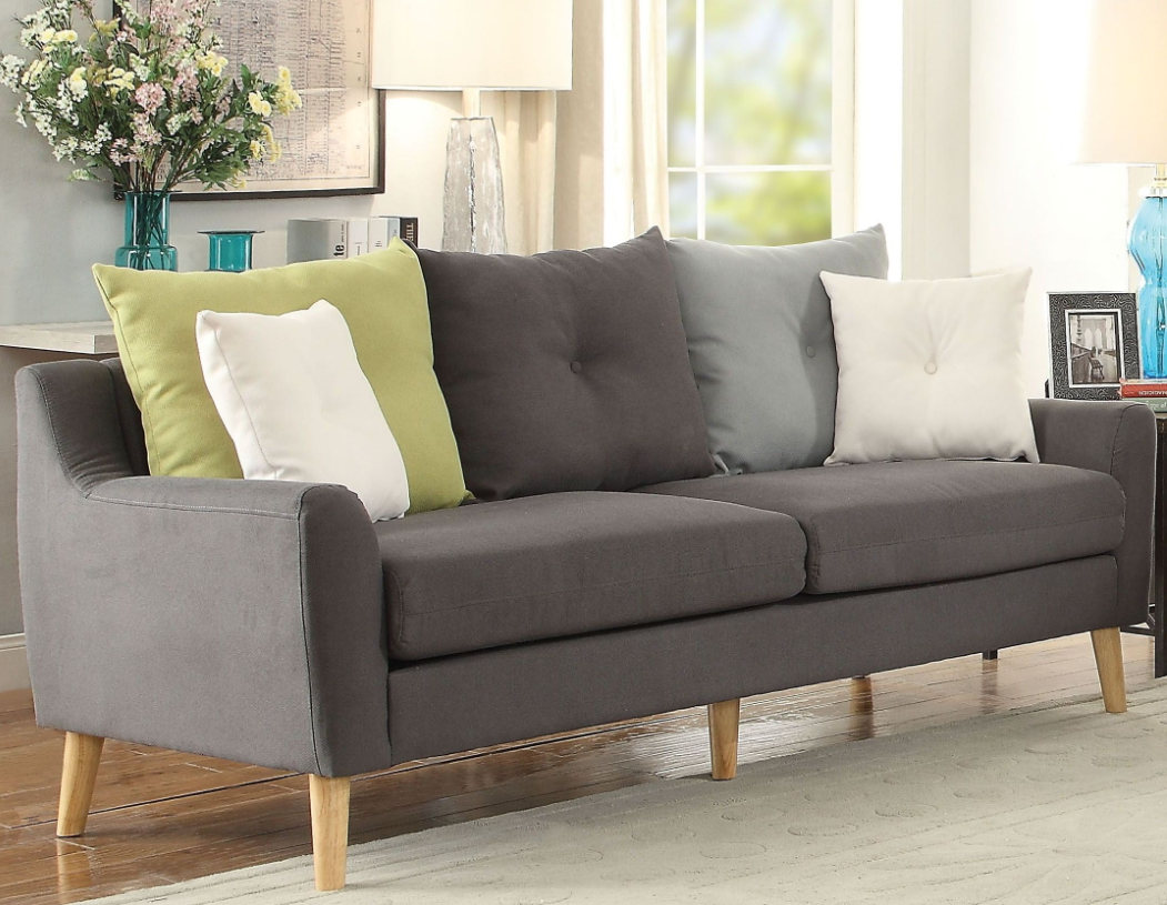 Acme Amie Sofa Pillows Gray Fabric