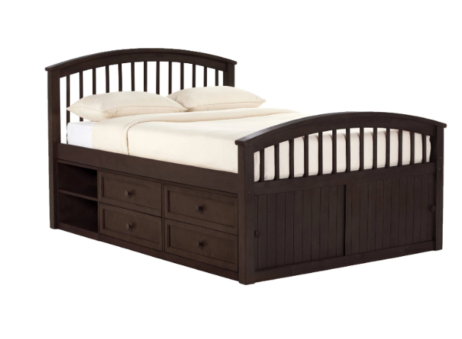 Hillsdale School Captain Bed Full Size Chocolate