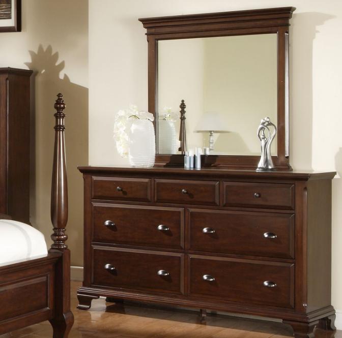 Picket House Cherry Dresser Mirror Set
