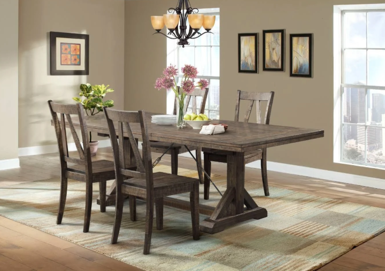 Picket House Dining Set Table Wooden Side Chairs