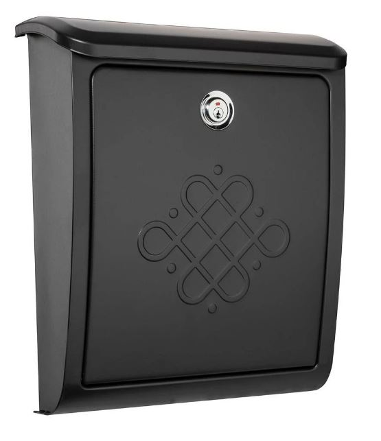 Bordeaux Locking Wall Mount Black - Architectural Mailboxes 2697B