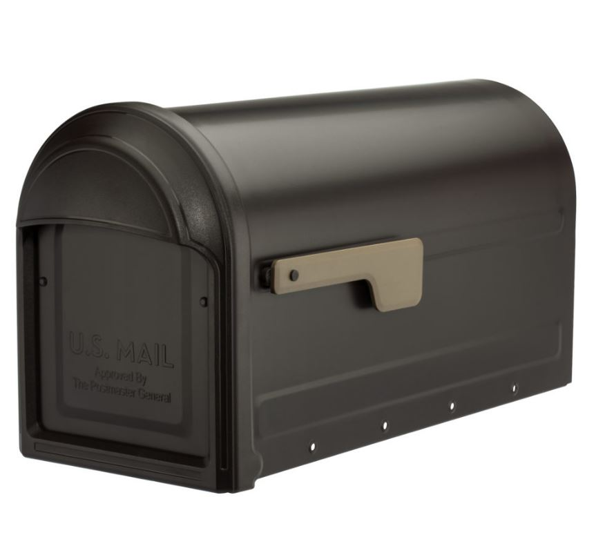 Barrington Post Mount Mailbox Rubbed Bronze - Architectural Mailboxes 7900-1RZ-CG