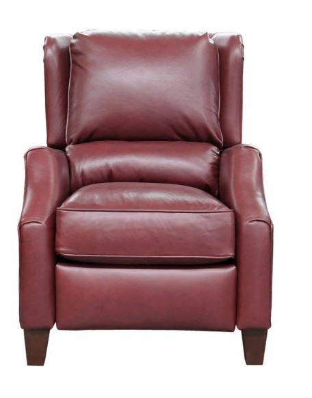 Barcalounger Berkeley Recliner Shoreham Wine All Leather