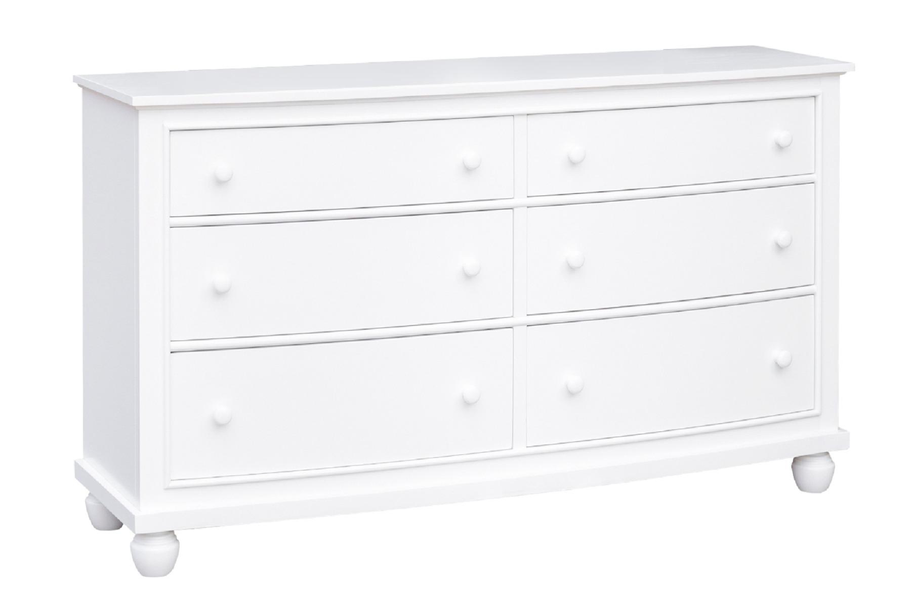 Sunset Trading White Shutter Wood 6 Drawer Dresser - Sunset Trading CF-1130-0150 Image