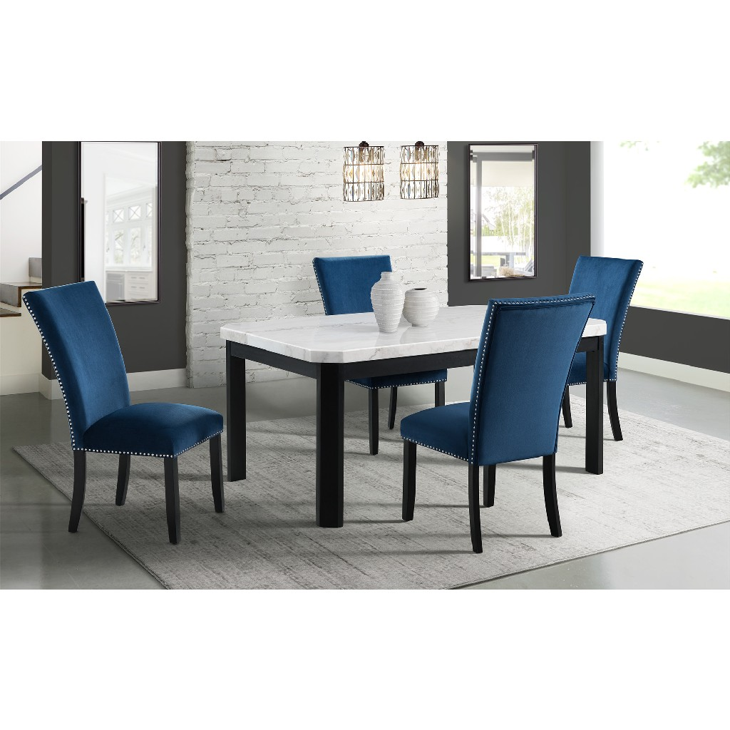 Picket House Furniture Dining Set Marble Table Chairs Photo