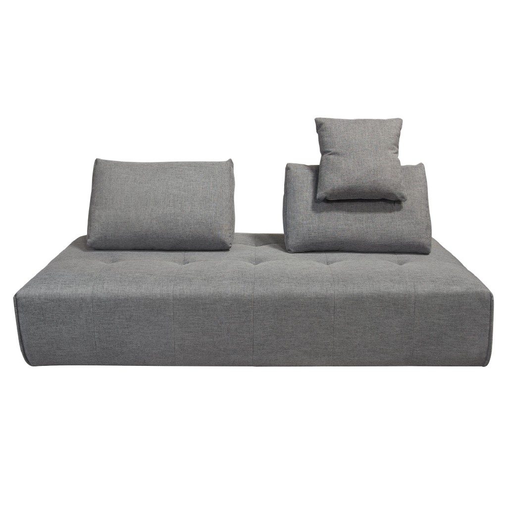 Cloud Lounge Seating Platform w/ Moveable Backrest Supports in Space Grey Fabric - Diamond Sofa CLOUDLGBGR