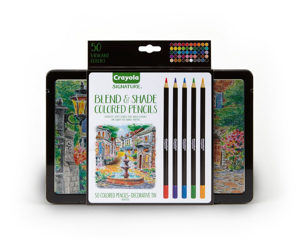 Crayola 50 Count Signature Blend & Shade Colored Pencils In Decorative Tin - CO68-2005