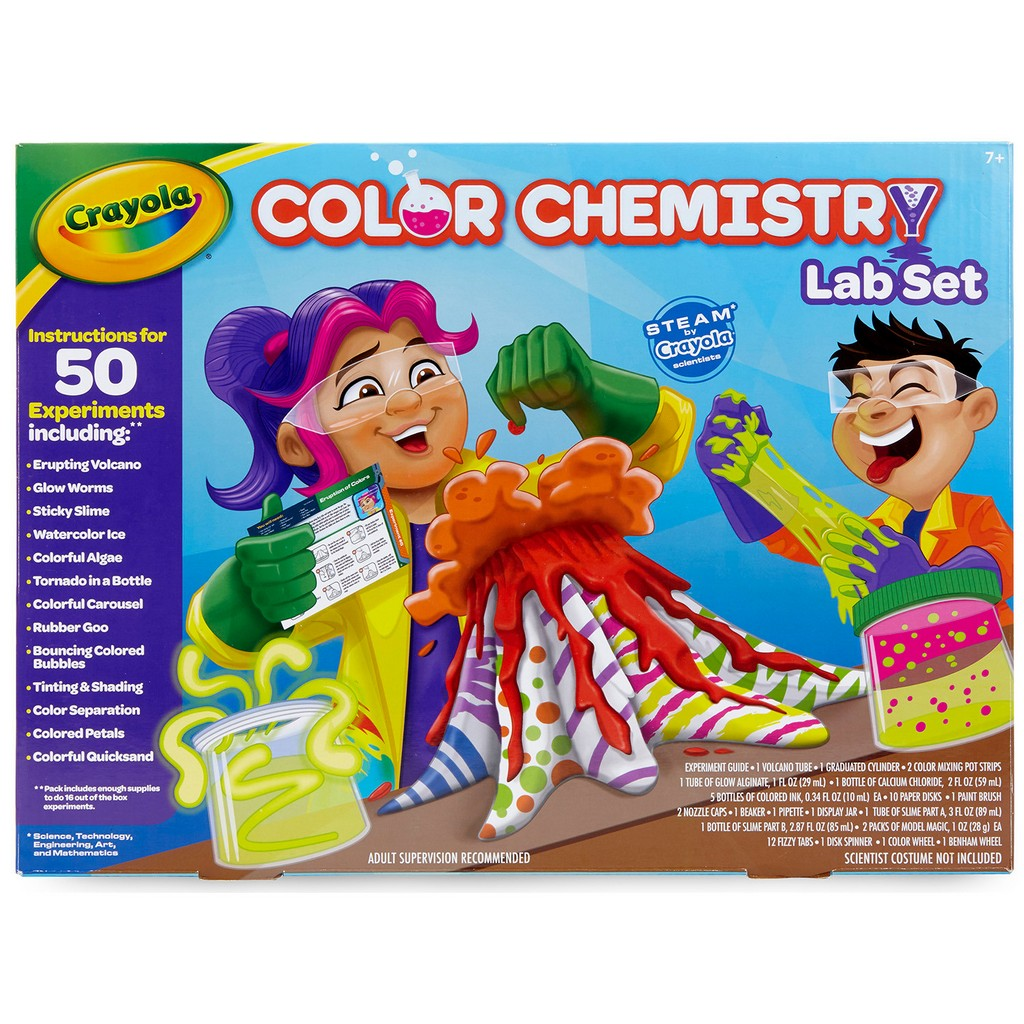 Crayola Color Chemistry Lab Set Steam toy 50 colorful experiments - CO74-7244