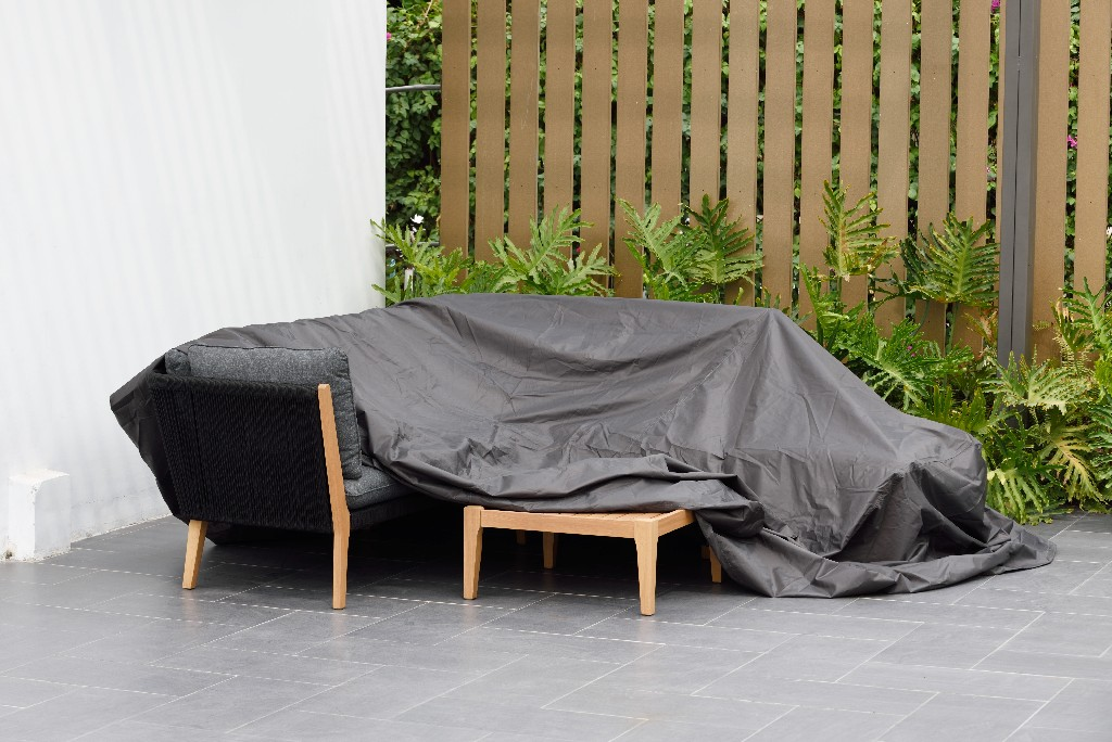 Amazonia Patio Cover for Dining Set / SQUARE & Waterproof/ Ideal to protect furniture against extreme weather - International Home COVER_DINING_SQUARE