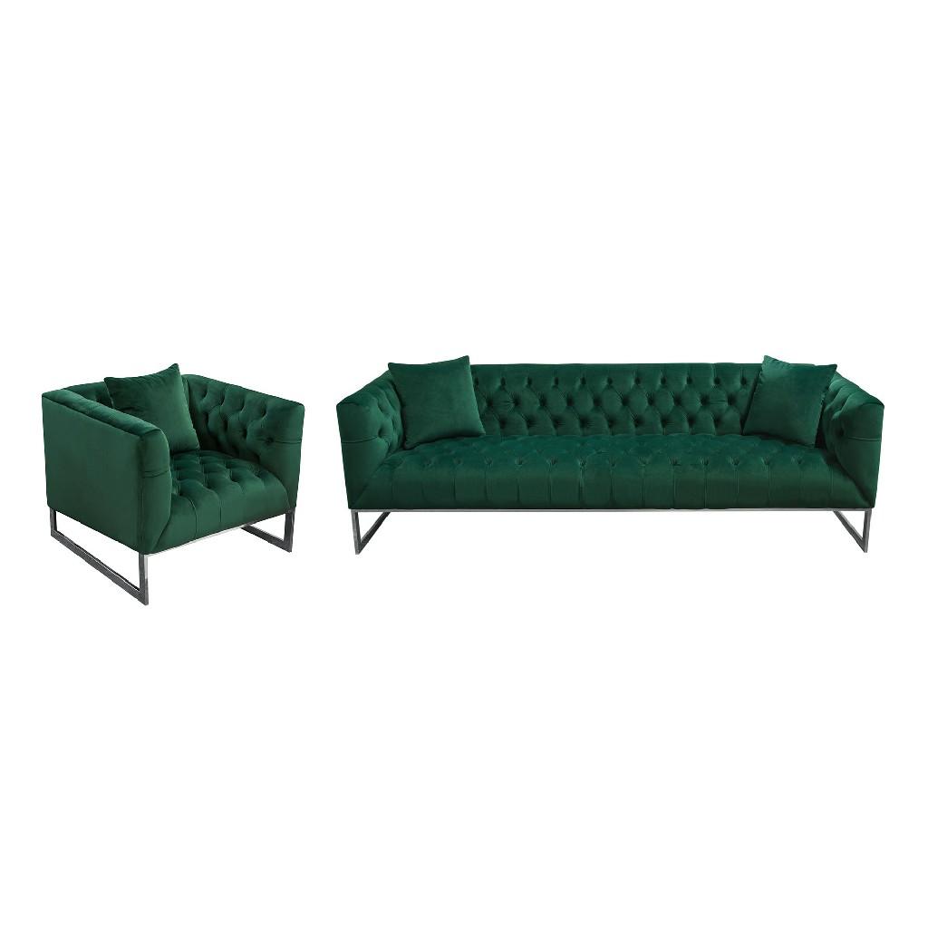 Diamond Sofa Tufted Sofa Chair Set