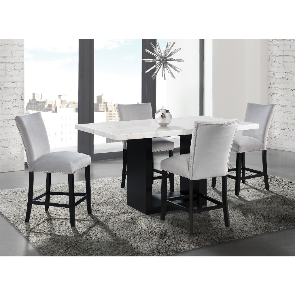Picket House Dining Set Marble Counter Table Chairs