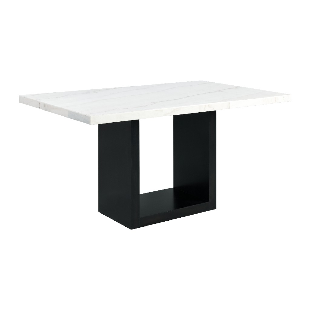 Picket House White Marble Counter Height Dining Set