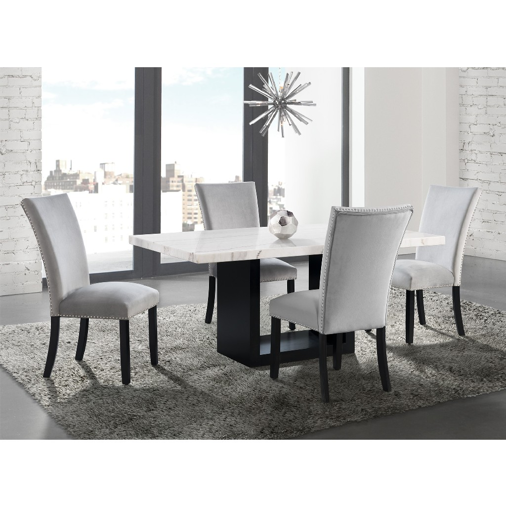 Picket House Dining Set Marble Table Chairs