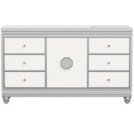 Dresser In White Silver Global Furniture Usa Kylie Dr