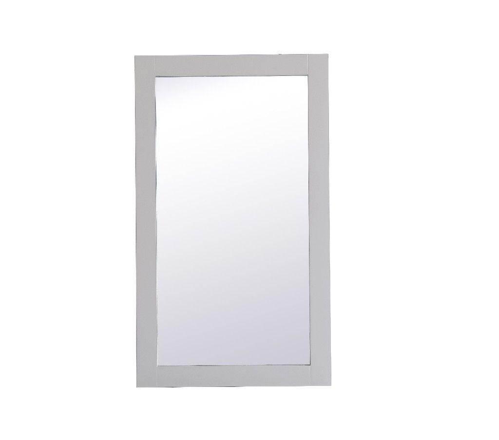 Aqua Rectangle Vanity Mirror 18 Inch In Grey Elegant Lighting Vm21832gr