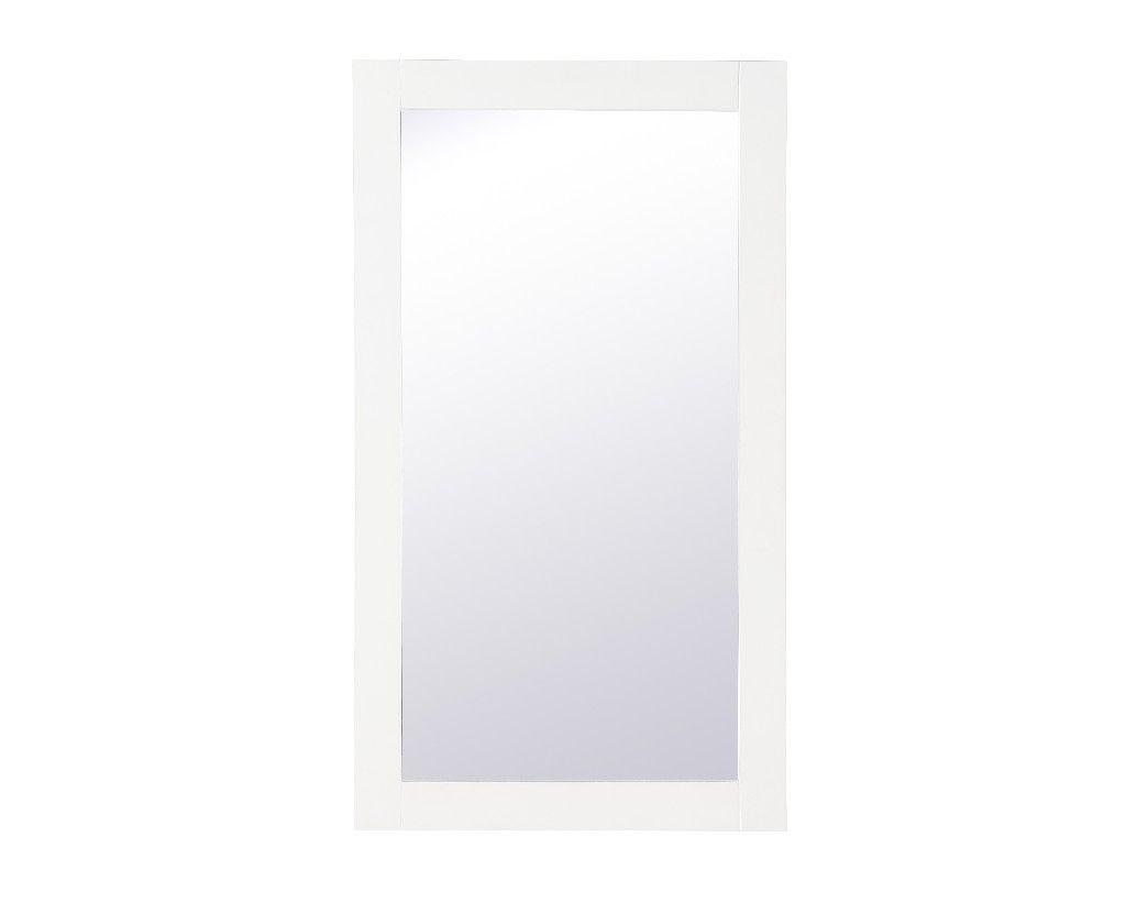 Aqua Rectangle Vanity Mirror 18 Inch In White Elegant Lighting Vm21832wh