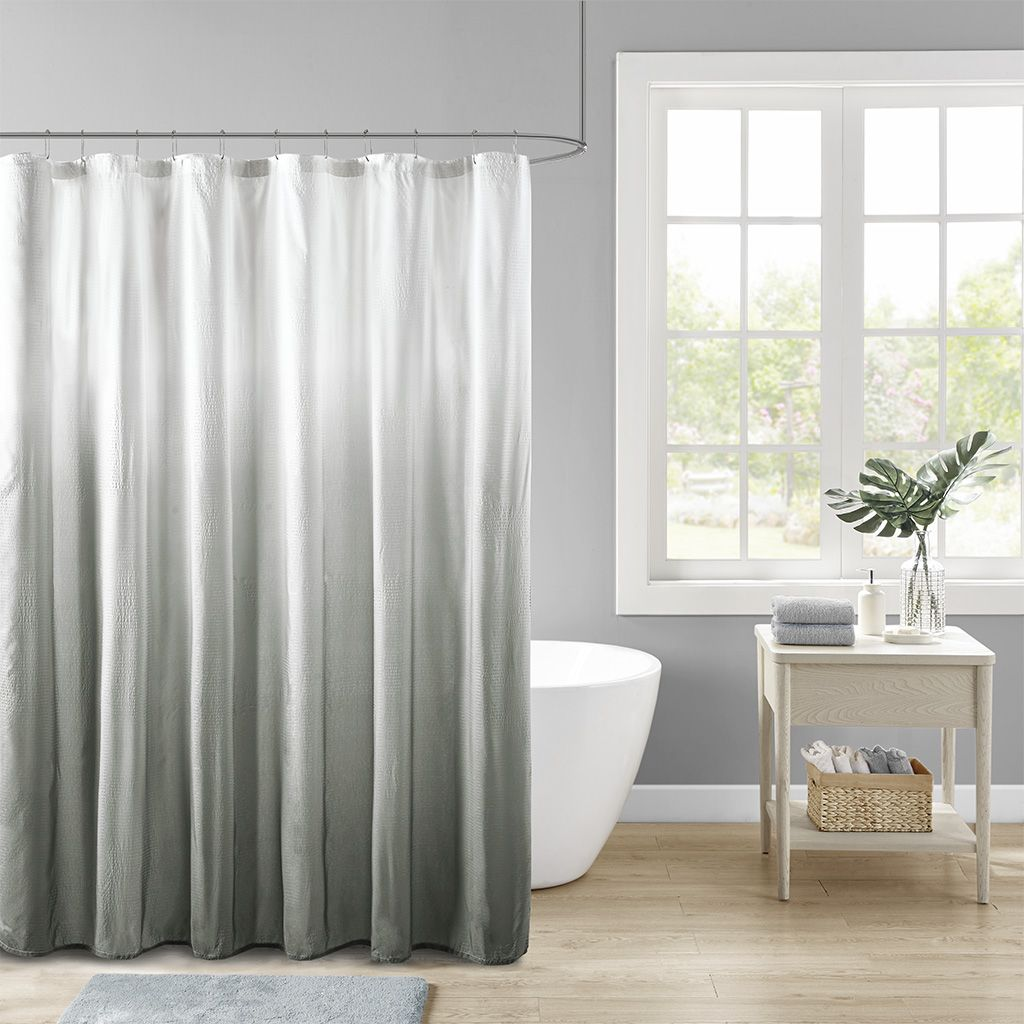 Madison Park 72x72 100 Polyester Shower Curtain In Grey Olliix Mp70 6595