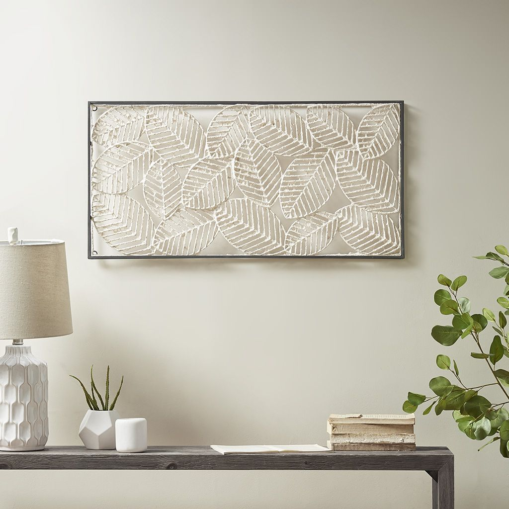 Madison Park Paper Cloaked Wall Decor Metal Frame In Natural Olliix Mp95b 0224