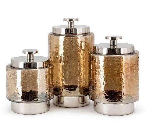 Set of 3 Imax 23272-3 Trisha Yearwood Bluebird Ceramic Canisters