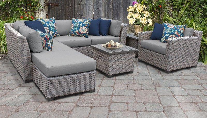 Grey Wicker Couch Off 71, Grey Wicker Patio Furniture Set