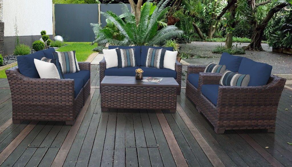 Tk Classics River 07e Navy, Patio Furniture Set