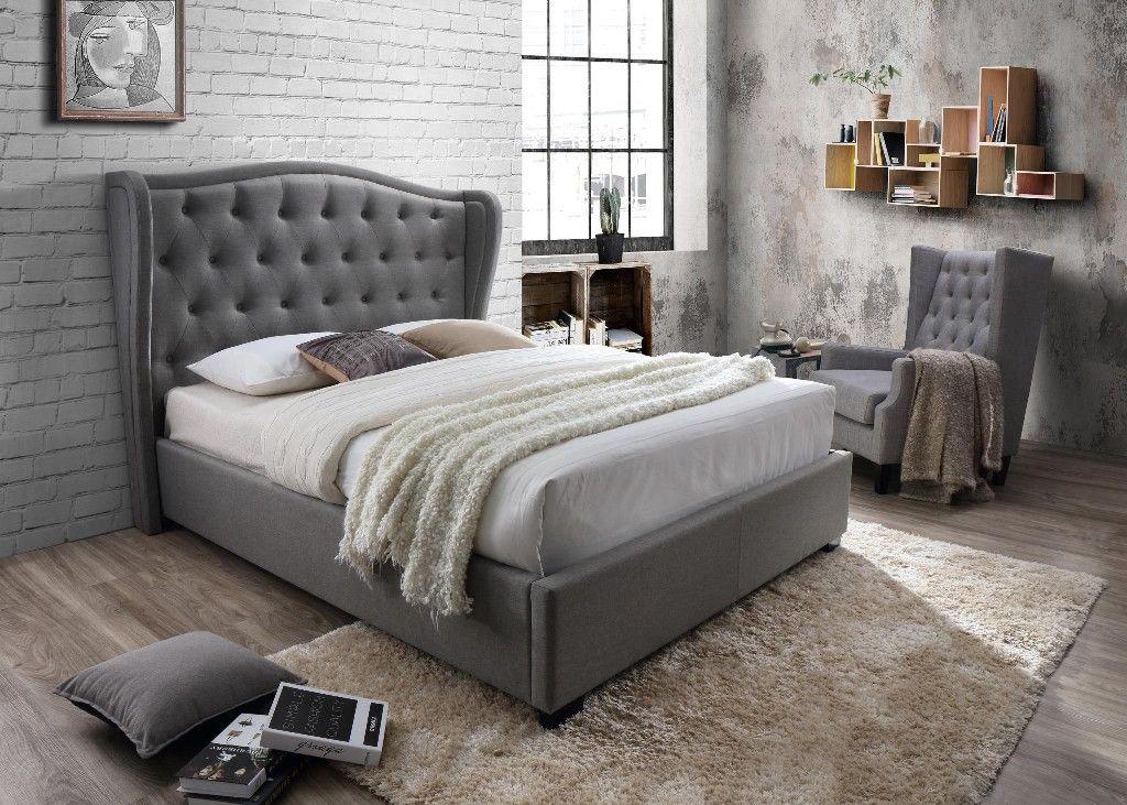 Festa Gray Tufted Upholstered King Bed Myco 2993 K Gy