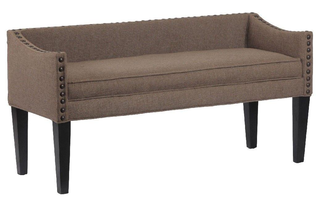 Whitney Upholstered Bench In Lisburn Rattan Leffler Home 13000 02 04 01