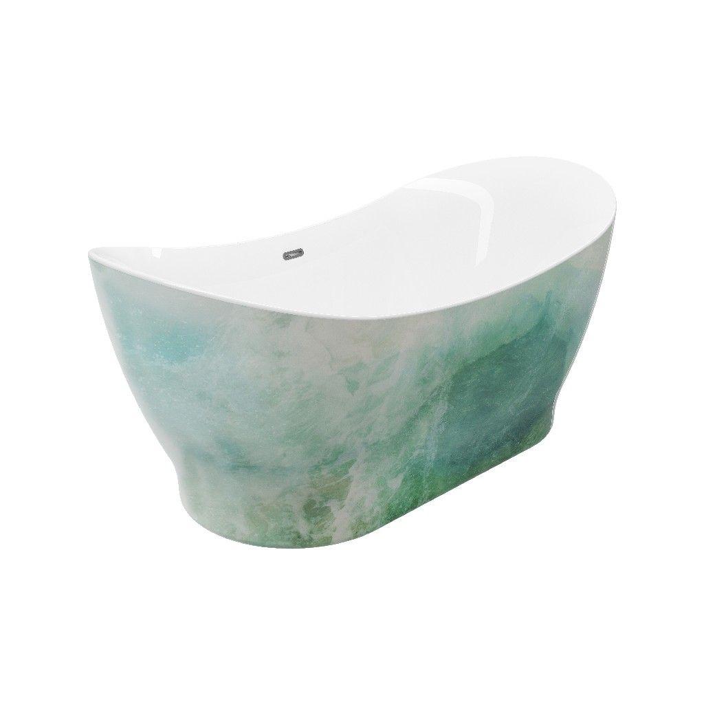 "Tundra Paint Freestanding Bathtub 4"" hand painted - A&E Bath and Shower  BT-4-PNT"